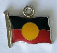 Aboriginal Flag Indigenous Australia Charm Pin Badge Rare Vintage (J8)