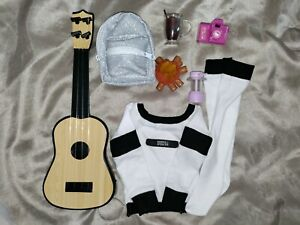 BJD SD 1/3 Doll Clothes Lot Outfit Camping Accessory Set Guitar Campfire Camera