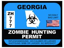 Georgia Zombie Hunting Permit  (Bumper Sticker)
