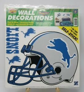 Detroit Lions Football Wall Decorations Color Clings Champion Series NIP