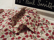 """PAUL SMITH Mens Shirt ��Size 15.5"""" (CHEST 42"""")�� RRP £95+�� FLORAL LIBERTY STYLE"""