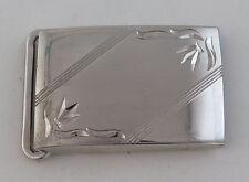 """Sleek Lamode Vintage Sterling Silver Elegant Belt Buckle for 1"""" Belt"""