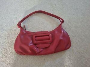 Etam  Faux Leather Red  90s Small Shoulder Bag