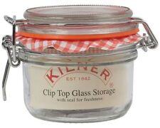 2 x Kilner Round Glass Storage Metal Clip Top Preserving Jar 125ml