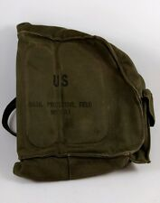 US ARMY VIETNAM WAR ERA M17A1 FIELD PROTECTIVE GAS MASK CANVAS BAG ~ NO MASK