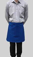 Wholesale Job Lot 10 New Half Apron Royal Blue Bistro Kitchen Catering Cafe