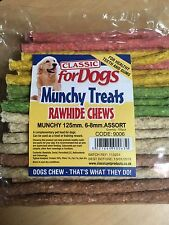 Classic 5'' Assorted Rawhide Munchy Sticks 100's  x 24 Packets (wholesale Case)