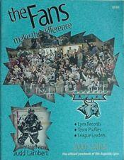 2001-02 AUGUSTA LYNX YEARBOOK (EASTERN HOCKEY LEAGUE