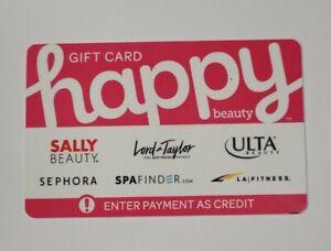 HAPPY beauty $50.00 GIFT CARD Sally Beauty,sephora,spa finder,ulta,lord taylor