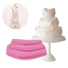 Ribbon Silicone Swag Mould Fondant Border Cake Decor Icing Sugarcraft Tool LD