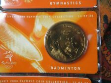 medaille piece 5 dollars sydney 2000 olympic coin collection sport badminton