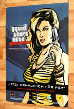 Grand Theft Auto Liberty City Stories Game Store Promo Poster PSP PS2 Very Rare