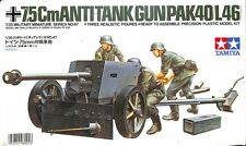 Tamiya 1:35 7.5cm Anti-Tank Gun Pak 40 L/46 Plastic Model Kit MM47 #35047