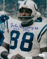 COLTS John Mackey signed photo 8x10 AUTO w/ HOF 1992 JSA COA Baltimore Autograph