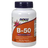 Vitamin B-50 Complex 100 Veg Capsules   Choline & Inositol   Biotin & Folic Acid