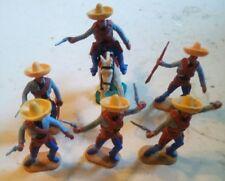 Timpo toys. 6 mexicains. 1/32e lot 6MEX2. Démontables.