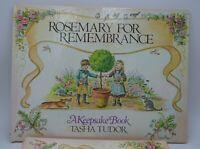 Tasha Tudor Rosemary For Rememberance Book 1st Edition with Slip Case