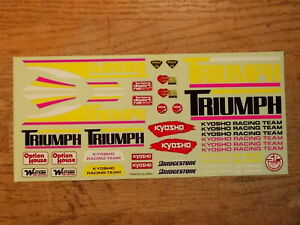 TM-29 Decal - Kyosho Triumph Vintage 2WD Off Road Racing Buggy