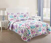 2 Pcs Kids Quilt Set Throw Blanket For Teens Boys Girls Bedding Twin A32 Quilt