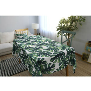 Tropical Plants Print Table Cloth Tablecloth Wedding Party Desk Cover Home Decor