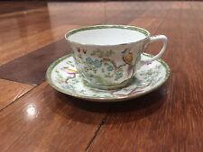 Vtg Antique Adderley Porcelain Cup & Saucer Sado / Blue Birds Pattern Decoration