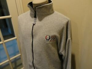 Gray Sewn USA 2008 Beijing Olympics Full Zip Polyester Fleece Zip Jacket 2XL