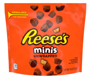 Reese´s Peanut Butter Cups minis 215g Beutel US-Ware (23,53€/kg)