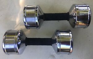(2) Vintage Marcy 10lb Dumbbells Rare 10 pounds each (20 pounds Total)
