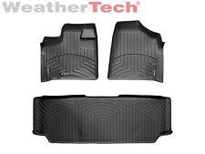 WeatherTech FloorLiner - Dodge Grand Caravan 2nd Row w/ Bench - 2008-2009 -Black