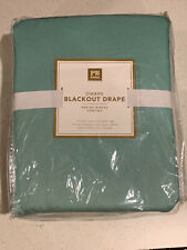 "POTTERY BARN TEEN OMBRE BLACKOUT DRAPE ""Pool"" Blue Green 52 x 84"