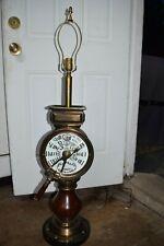 "Vintage Chadboam's Brass Mahogany Ship's Telegraph Liverpool 42"" Tall Lamp"