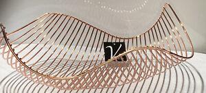 """Vistella Rose Copper Wave Basket 14.5"""" X 10"""""""