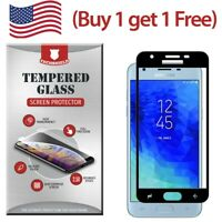 Full Cover Tempered Glass Curved Edge For Samsung Galaxy J3 Eclipse 2