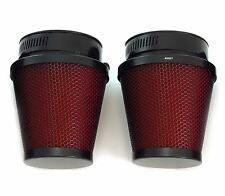 Set of 2 Black & Red Pod Filters - 54mm - Honda CB/CM400/450 CX/GL500/650