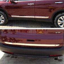 5PC Rear Trunk Lid + Side body door molding chrome trim For HONDA CRV 2012 +