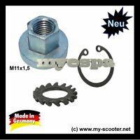 Vespa  M11x1,5  Polradmutter Mutter Polrad Lüfterradmutter 150 VBA VBB GL GT GS3