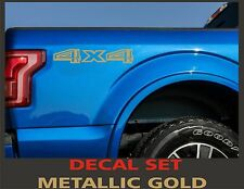 4x4 Truck Bed Decals, Metallic Gold (Set) for 2015 Ford F-150 and Super Duty