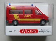 FIRE MERCEDES SPRINTER BUS TRUCK WIKING 1/87 Plastic Miniature Car HO Scale