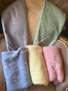 Spanish Baby Blanket fleece mink BNWT romany
