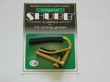 Shubb Capo 12 String Acoustic Guitar C3B BRASS ~New~ Free U.S. Shipping