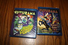 Lot 2 Futurama In To The Wild Green Yonder Benders Game Blu-Ray Brand New Bundle