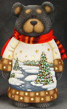 """Ceramic Bisque Ready to Paint """"Christmas Black Bear"""" with Light Kit"""