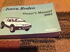 2001 ISUZU RODEO Owners Manual OEM FACTORY BOOK ISUZU MOTORS 2001 DEALERHSIP x