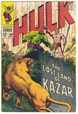 INCREDIBLE HULK 109 - 9.0 - KA-ZAR - HERB TRIMPE COVER