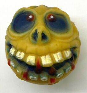 Vintage Big Mouth Yellow Skull Monster Rubber Ball KO Knock Off Mad Ball Crazy