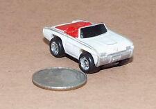 Small Micro Machine Plastic 1963 Ford Thunder Bird Convertible White & Red