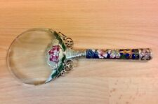 Antique Chinese Silver/Enamel Magnifying Glass.