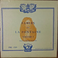 COMEDIE FRANCAISE: Fables de la Fontaine Vol. I-NM1953LP