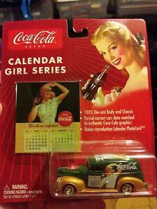 Johnny Lightning Coca Cola Calendar Girl Series #2 '40 Ford Sedan Delivery GREEN