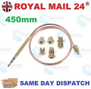 UNIVERSAL THERMOCOUPLE 450MM LONG WITH M6 THREADED END - FREE POSTAGE